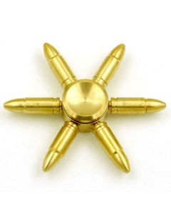 6 Round Nose Bullets Brass Fidget Spinner DIY Hand Spinner Removable bearing and bullets