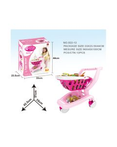 Luxury fast food playset shopping cart pink