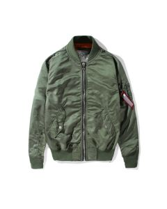 Air Force Men's nylon longline bomber jacket