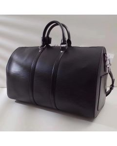 Black Epi Leather Weekend/Travel Bag