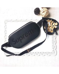 Black Epi Pum bag Shoulder Cross Body Bag Wrist pouch
