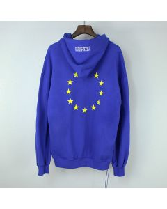 European Union flag and dollar motif ZIP-UP BRO HOODIE