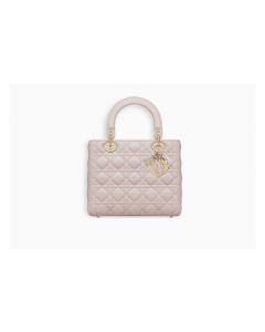 LADY BAG IN ROSE POUDRE LAMBSKIN