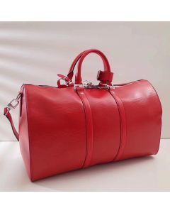 Red Epi Leather Weekend/Travel Bag