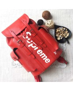 Red Leather BACKPACK CHRISTOPHER PM BAG EPI