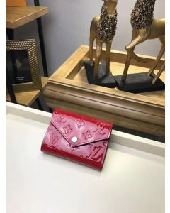 Red Leather Key and Card holder/pouch wallet bag