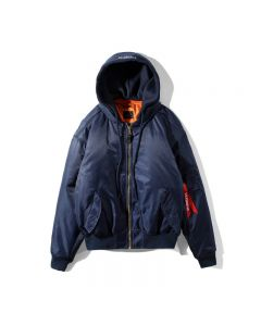 Shell Hooded Padded Bomber Jacket
