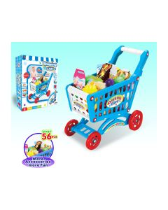 Luxury fast food playset shopping cart blue