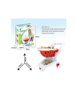 Luxury fast food playset shopping cart white